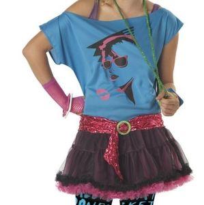 NWOT 80`s Valley Girl Costume Junior's Medium 7/9
